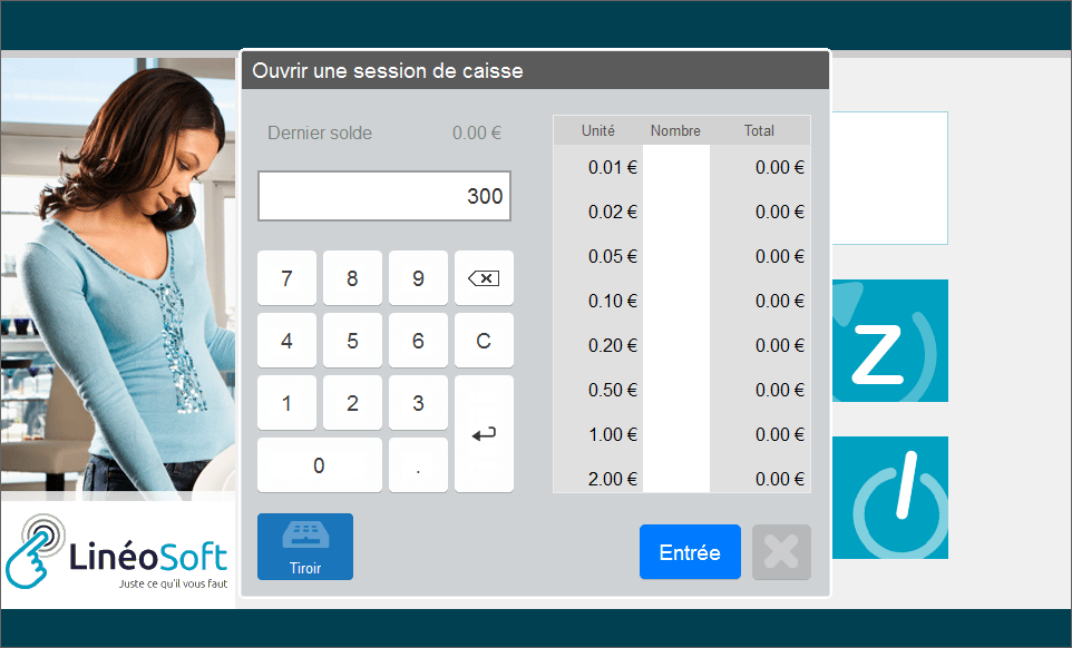 interface Lineostore caisse