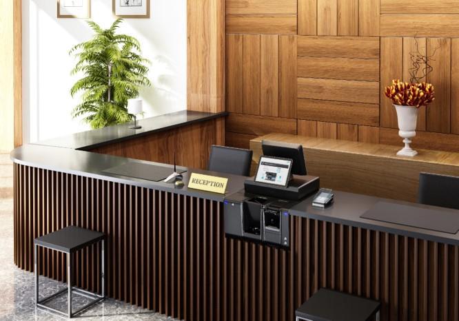Monnayeur glory CI-5 avec caisse réception hôtel