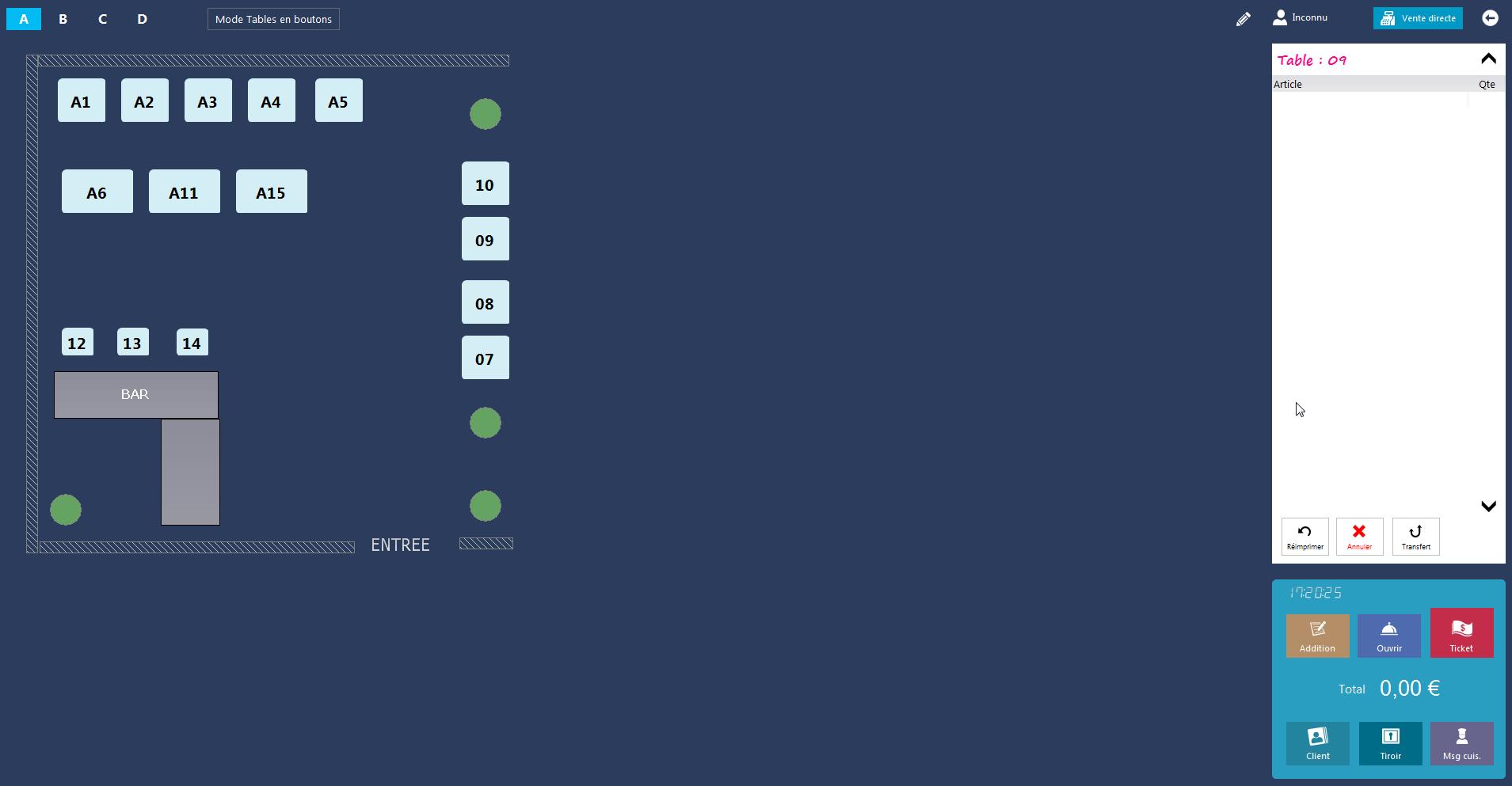 Interface restobar